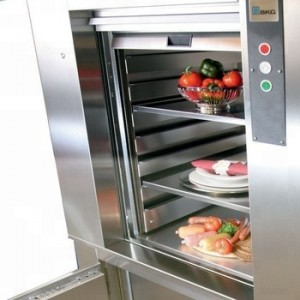 Mini Kitchen 2 Floors Food Dumbwaiter Elevator Lift 50kg For Restaurant