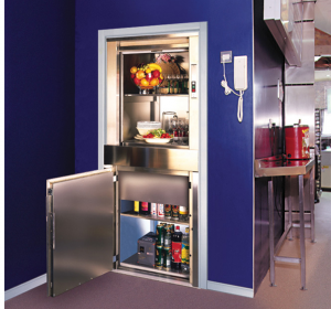 Mini Kitchen 2 Floors Food Dumbwaiter Elevator Lift 50kg For Restaurant