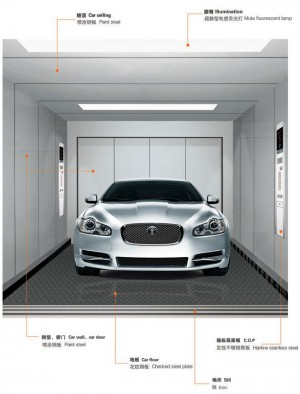 Best quality 3000-5000kg car elevator cost//Freight elevator/Fire elevator/Car Lift