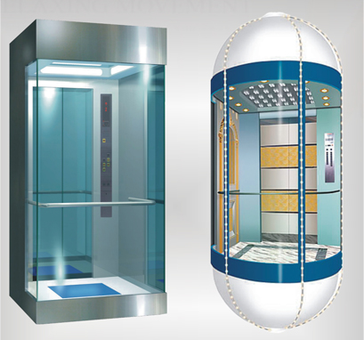 Reasonable price Small Lift For House - Stainless Steel Mirror Home Panoramic Villa Hospital Observation Passenger Elevator for Sale in Best Price – Fuji